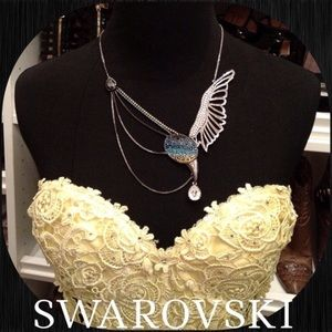 Beautiful Authentic Swarovski Bird Necklace